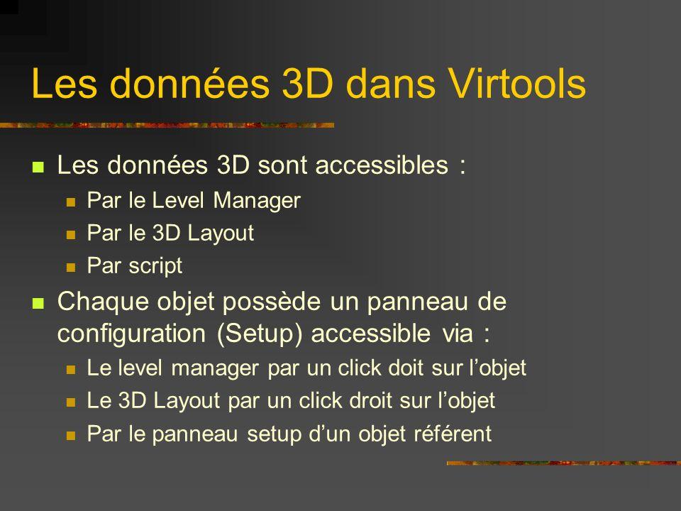 Les données 3D dans Virtools