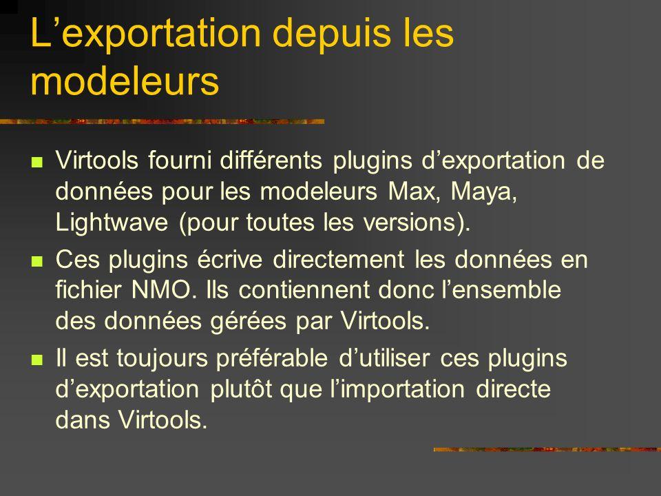 L'exportation depuis les modeleurs