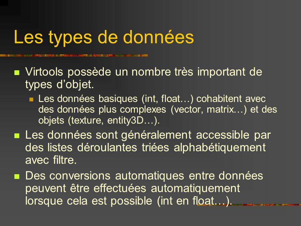 Les types de données Virtools possède un nombre très important de types d'objet.