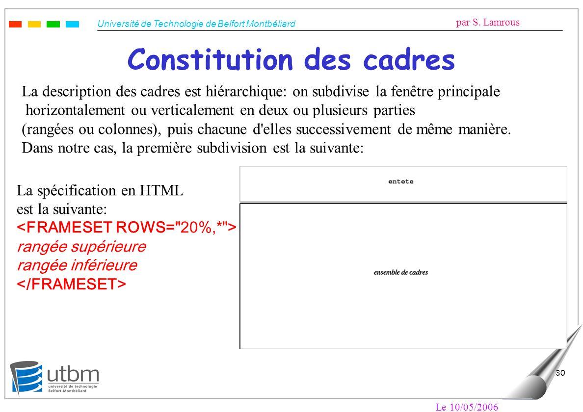 Constitution des cadres