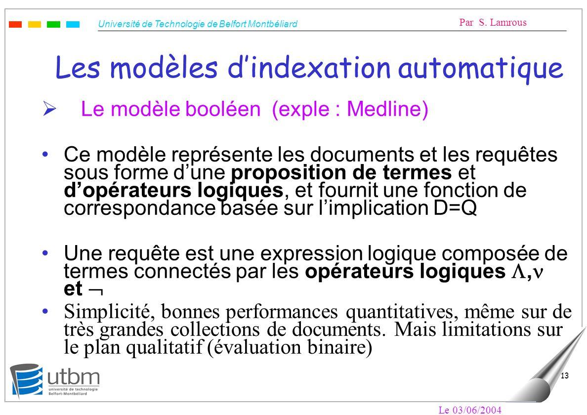 Les modèles d'indexation automatique