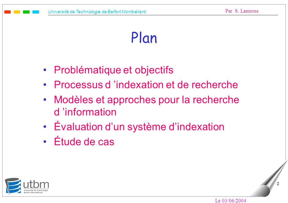 Plan Problématique et objectifs