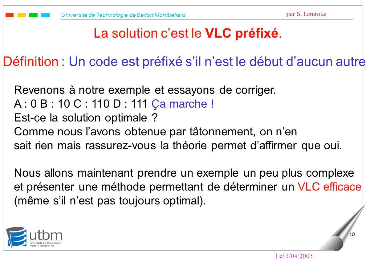 La solution c'est le VLC préfixé.