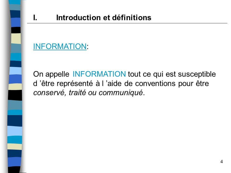 I. Introduction et définitions