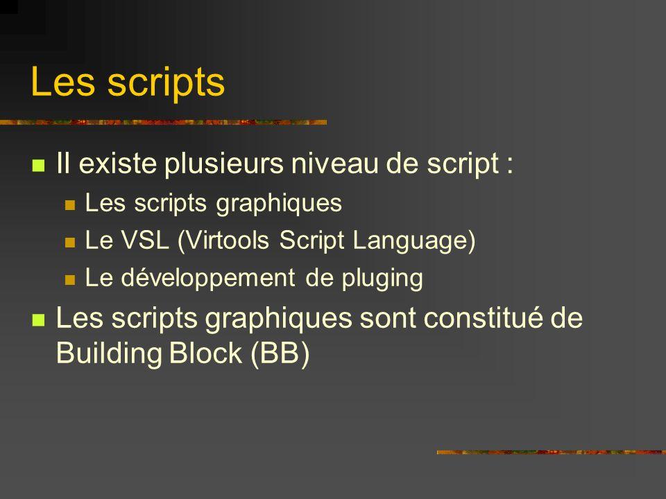 Les scripts Il existe plusieurs niveau de script :