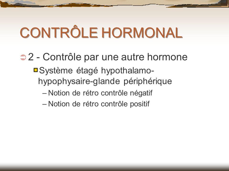 CONTRÔLE HORMONAL 2 - Contrôle par une autre hormone