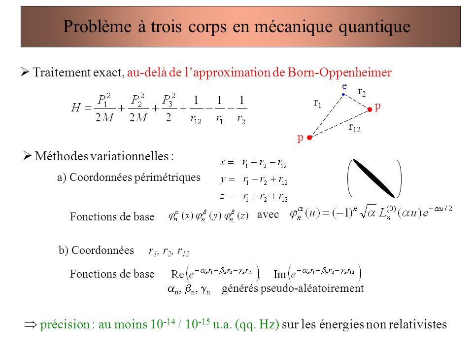 Problème à trois corps en mécanique quantique
