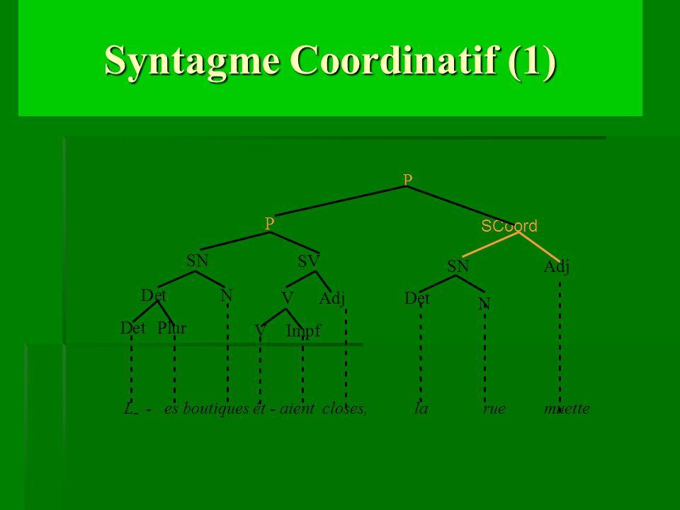 Syntagme Coordinatif (1)
