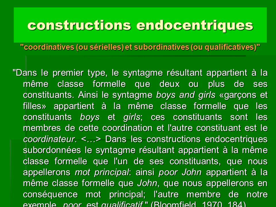 constructions endocentriques