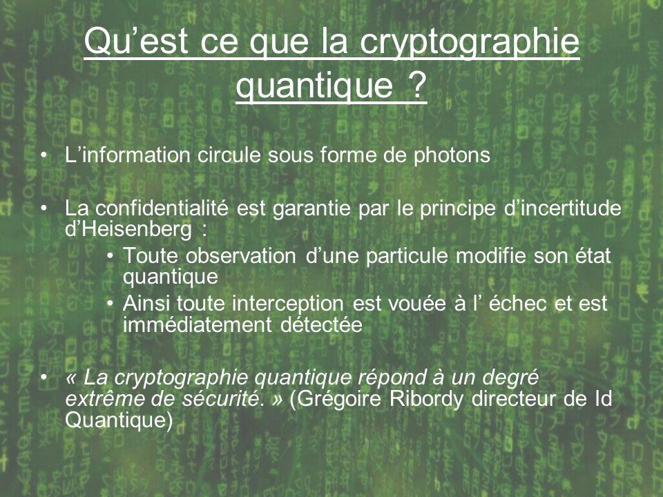 Qu'est ce que la cryptographie quantique