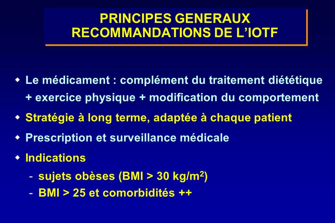 PRINCIPES GENERAUX RECOMMANDATIONS DE L'IOTF