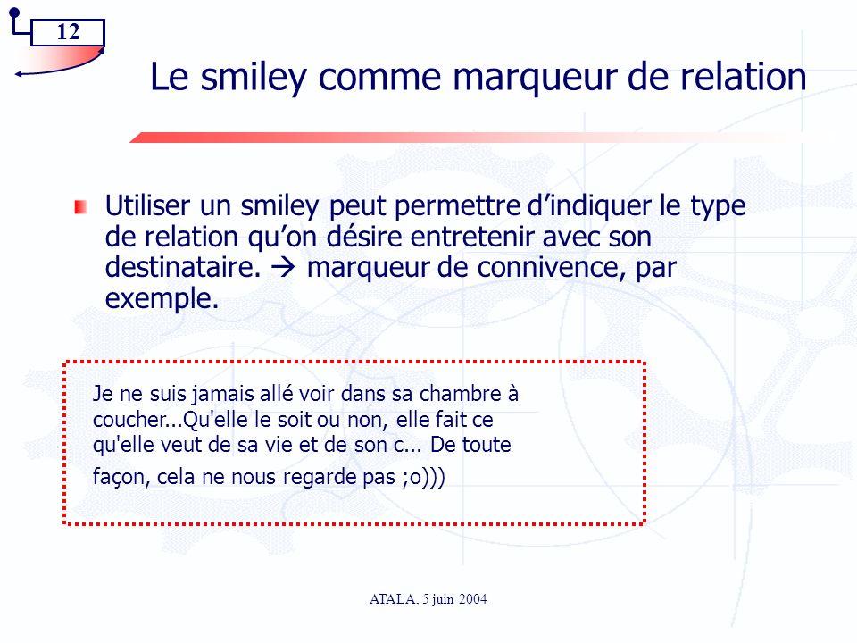 Le smiley comme marqueur de relation