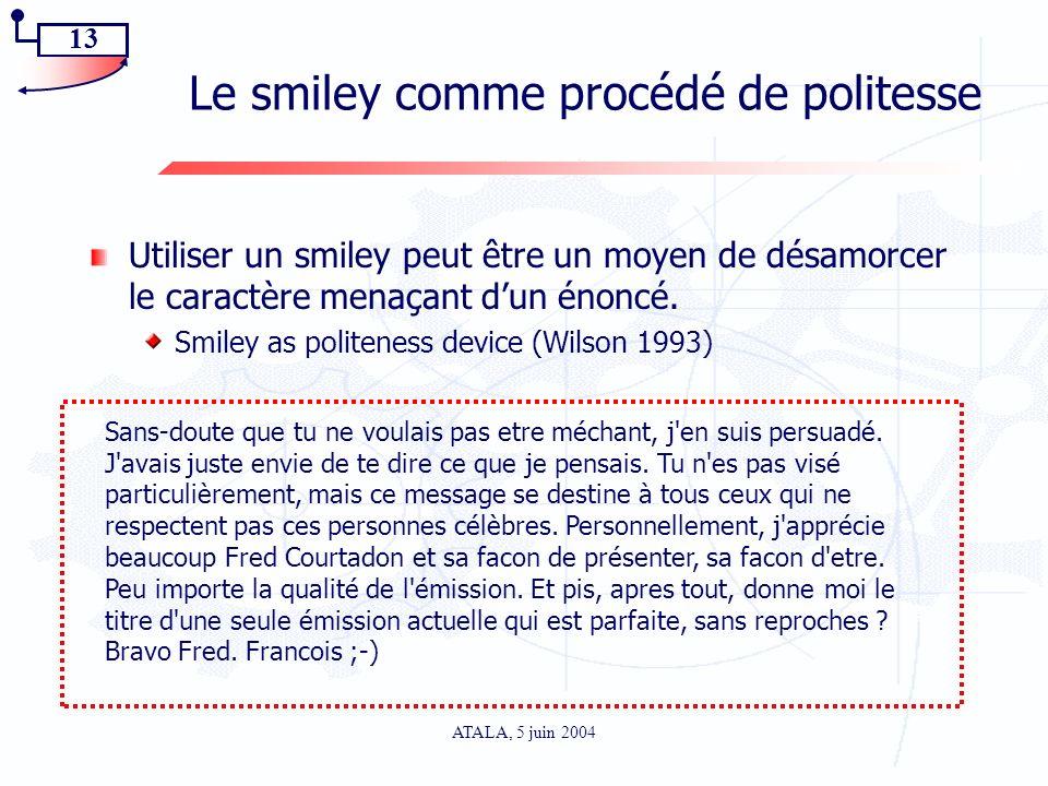 Le smiley comme procédé de politesse