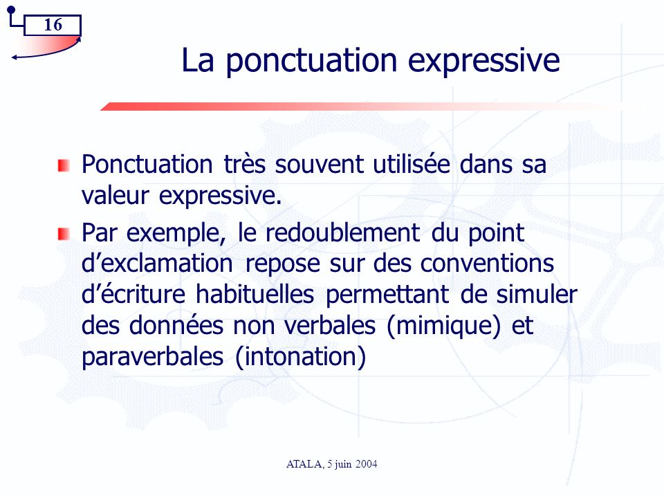 La ponctuation expressive