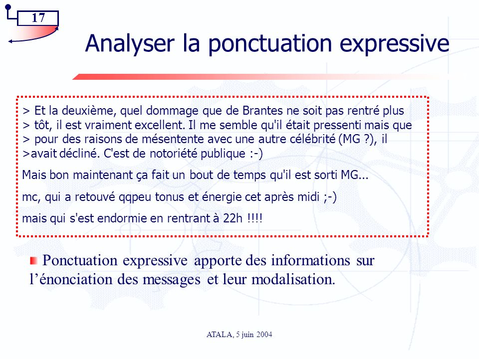 Analyser la ponctuation expressive