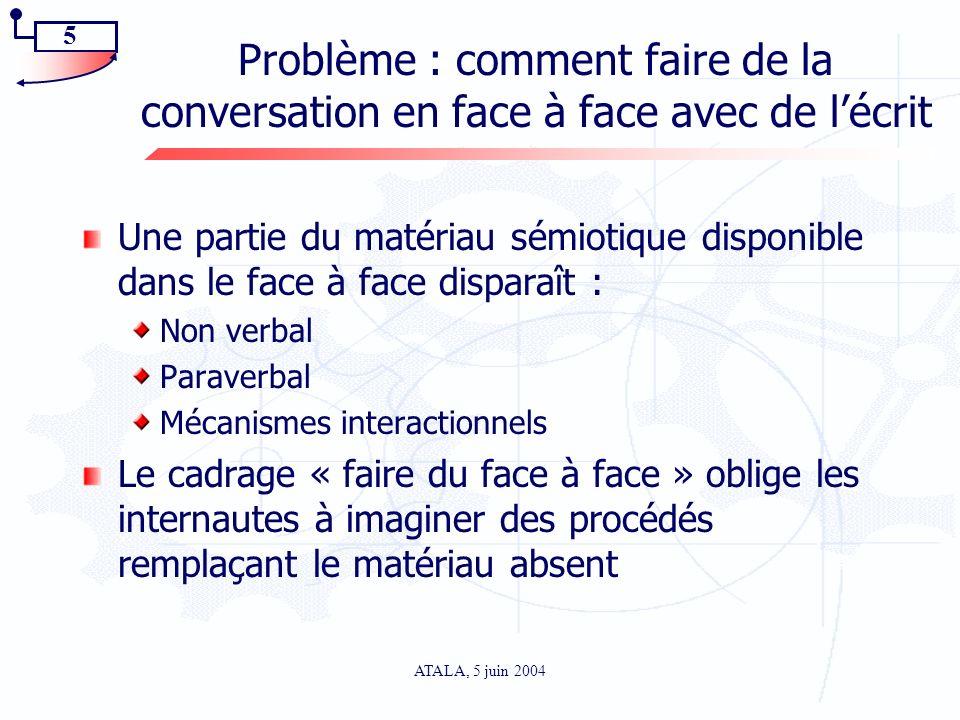 Problème : comment faire de la conversation en face à face avec de l'écrit