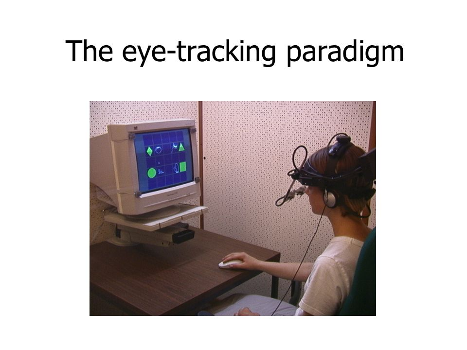 The eye-tracking paradigm