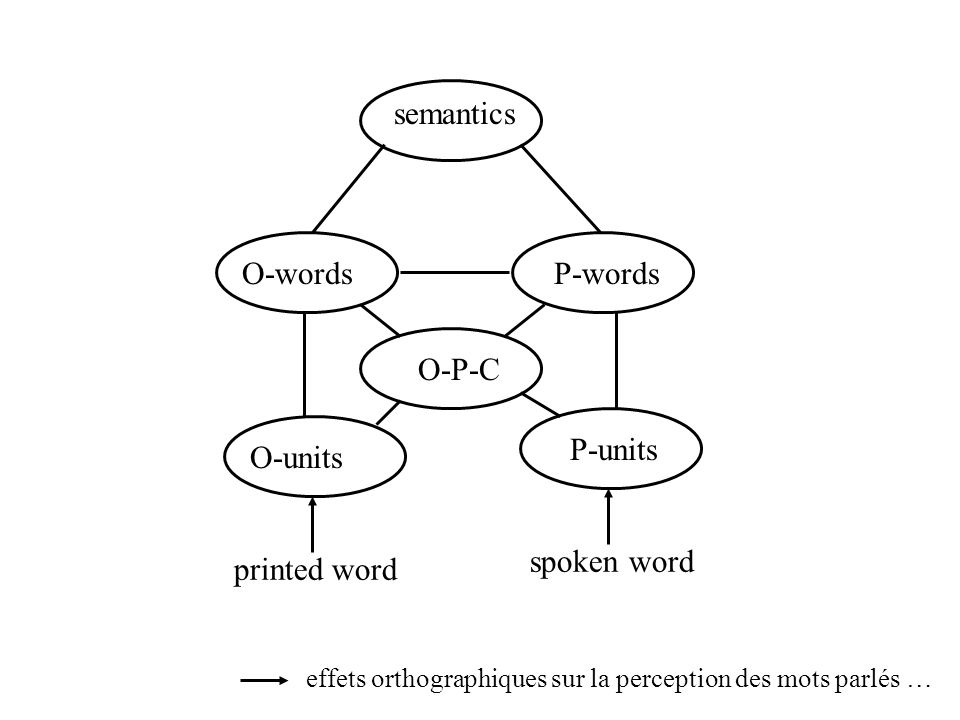 semantics O-words P-words O-P-C printed word O-units P-units