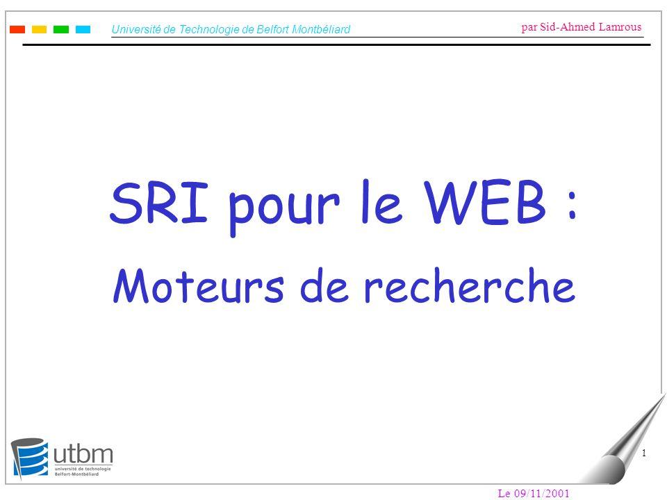SRI pour le WEB : Moteurs de recherche