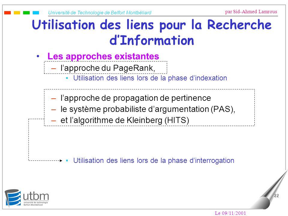 Utilisation des liens pour la Recherche d'Information