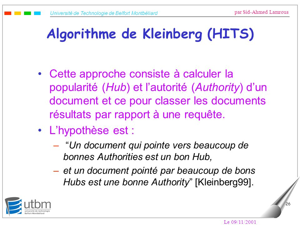 Algorithme de Kleinberg (HITS)
