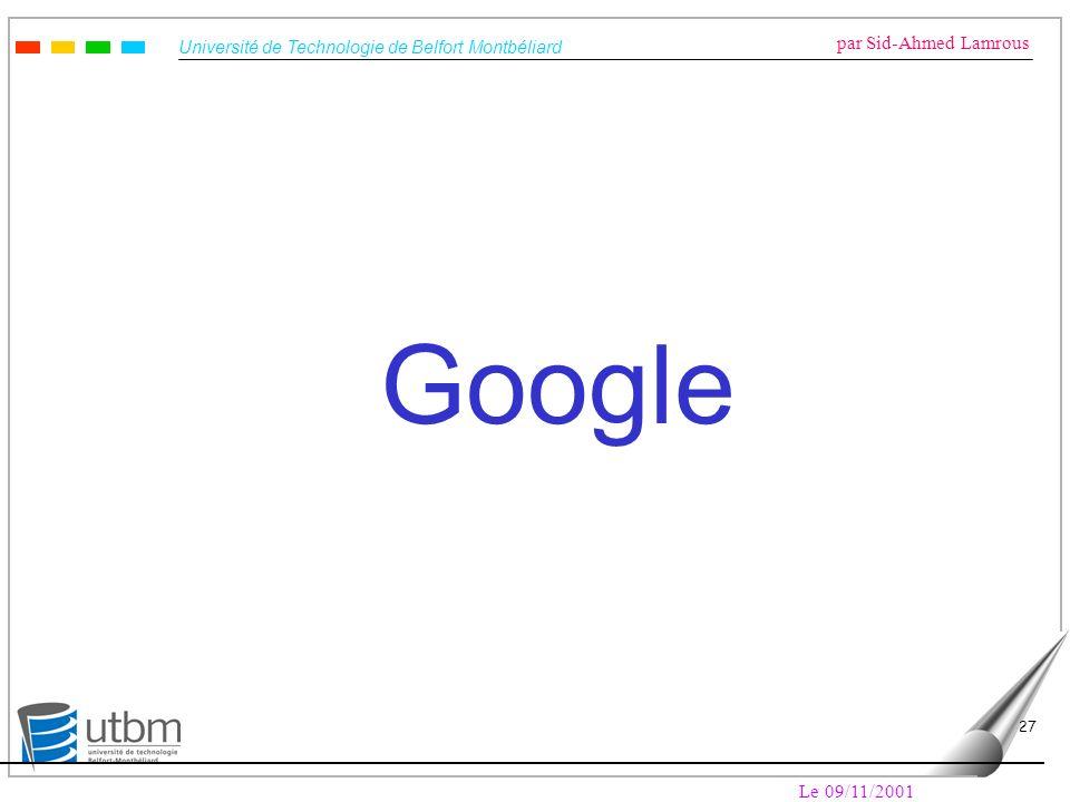 Google Le 09/11/2001
