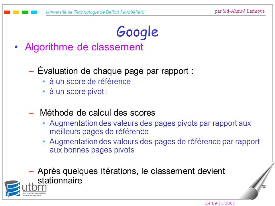 Google Algorithme de classement