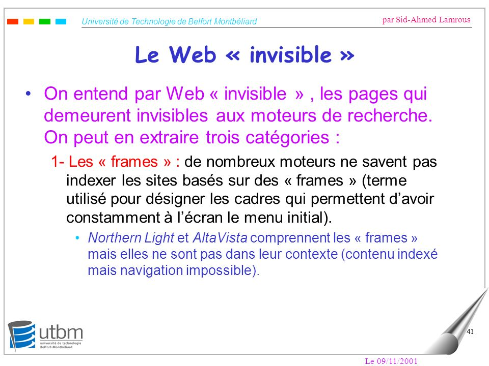 Le Web « invisible »
