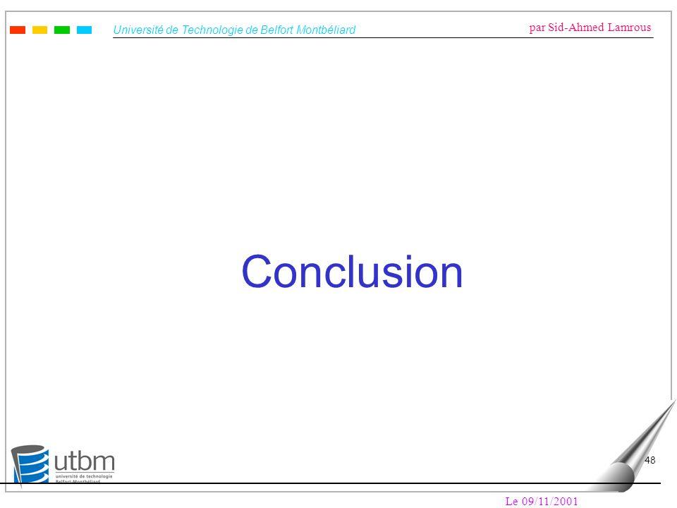 Conclusion Le 09/11/2001