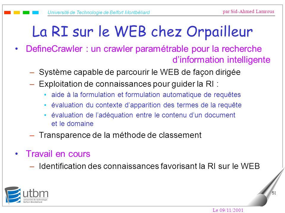 La RI sur le WEB chez Orpailleur