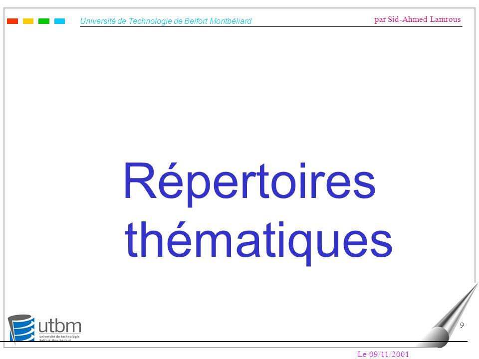 Répertoires thématiques