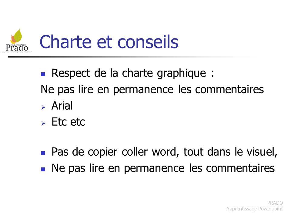 Charte et conseils Respect de la charte graphique :
