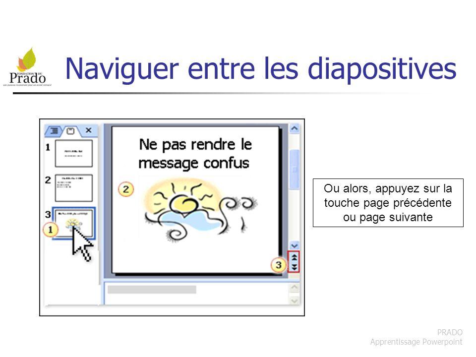 Naviguer entre les diapositives