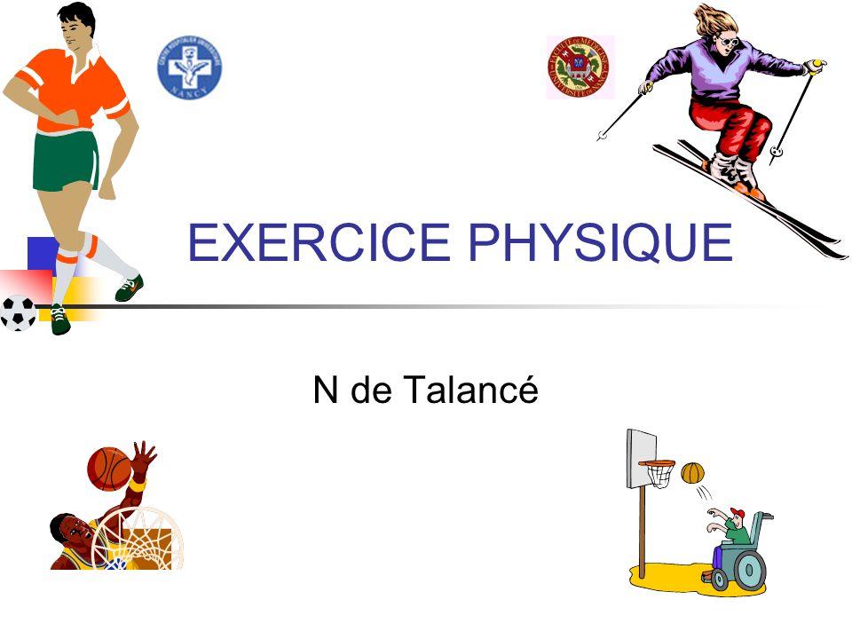 EXERCICE PHYSIQUE N de Talancé