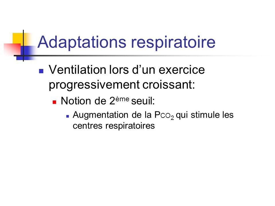 Adaptations respiratoire