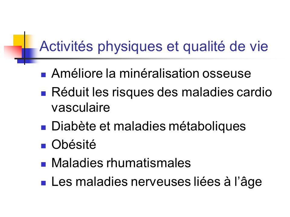 Activités physiques et qualité de vie