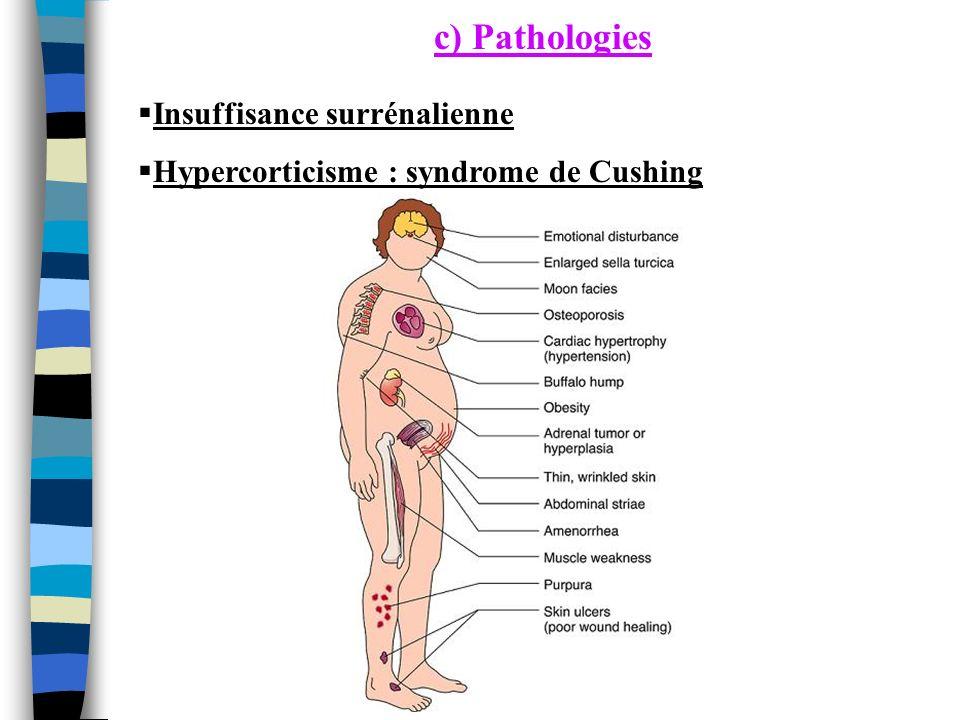 c) Pathologies Insuffisance surrénalienne