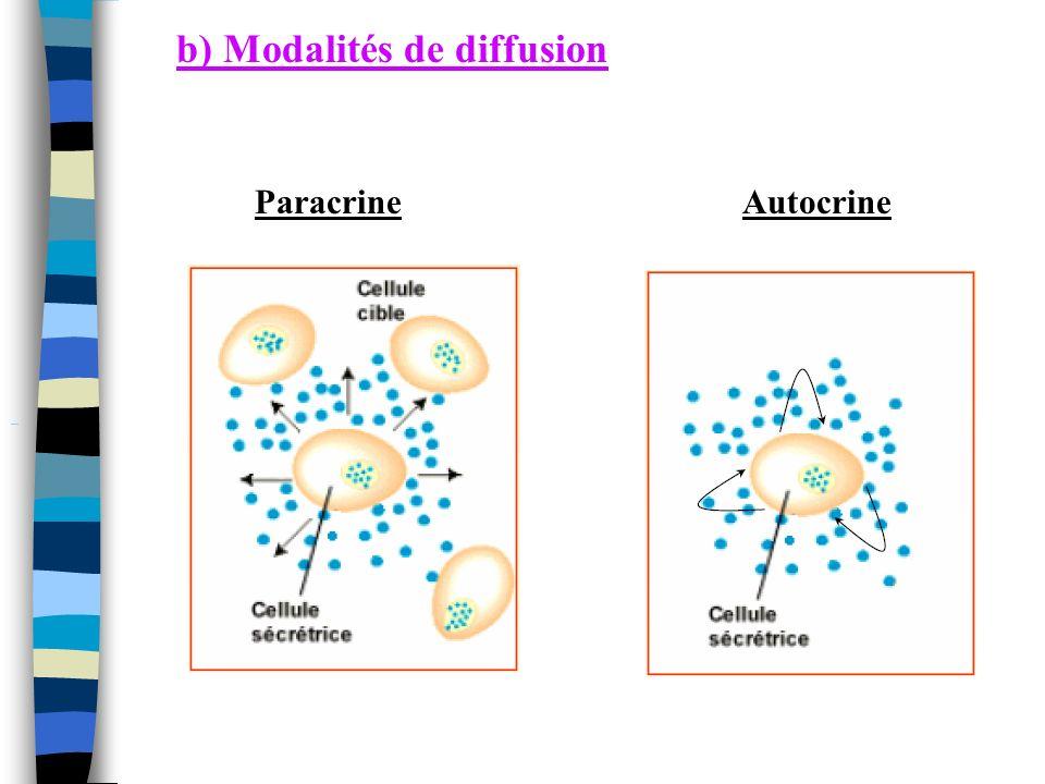 b) Modalités de diffusion