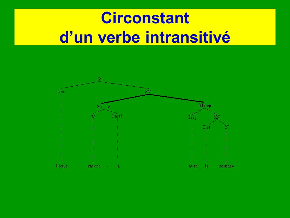 Circonstant d'un verbe intransitivé
