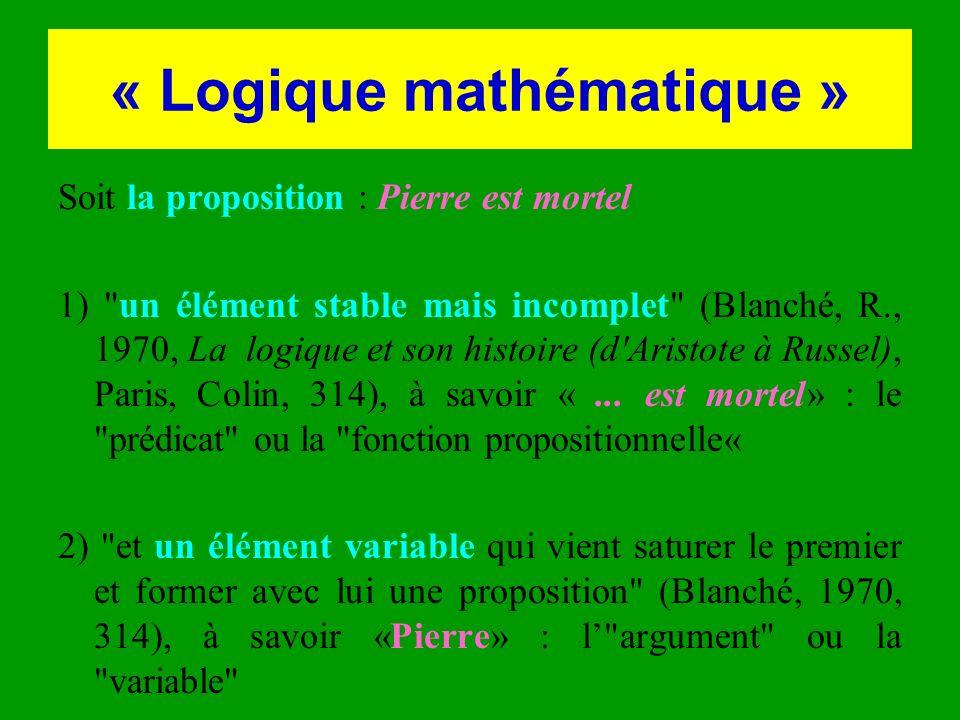 « Logique mathématique »