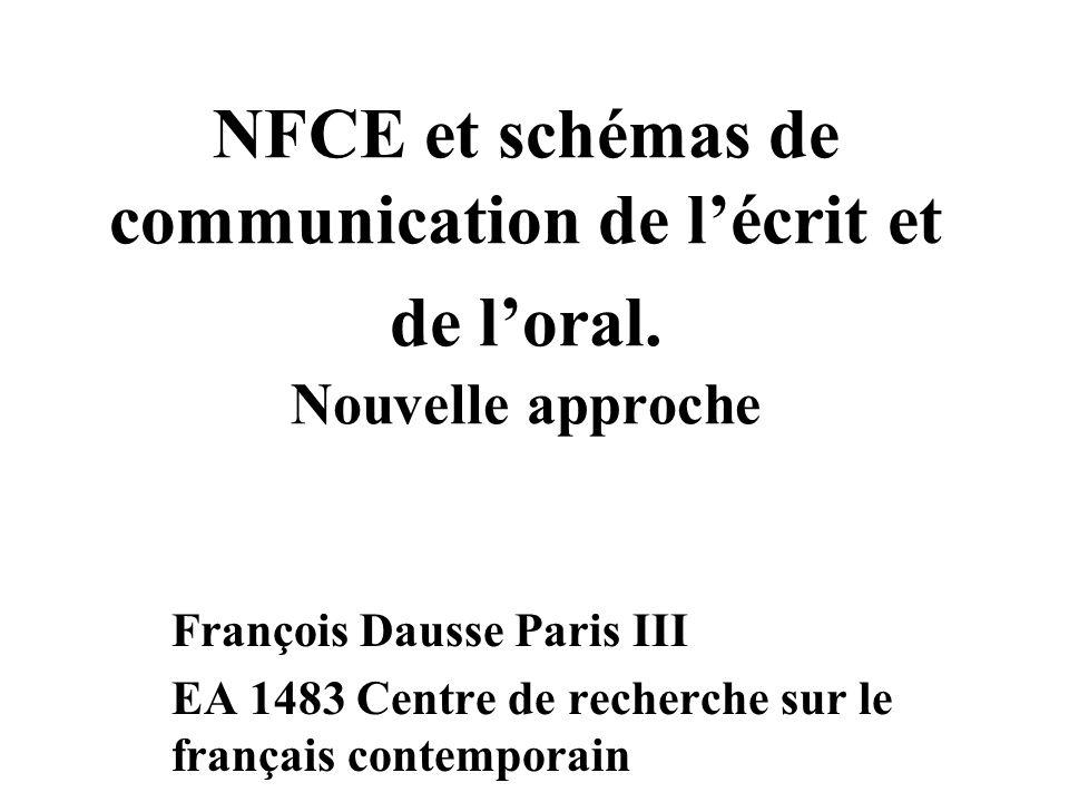 NFCE et schémas de communication de l'écrit et de l'oral