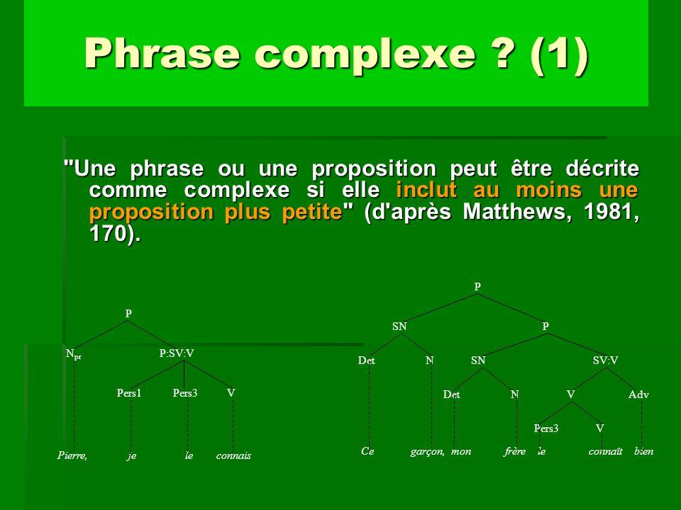 Phrase complexe (1)