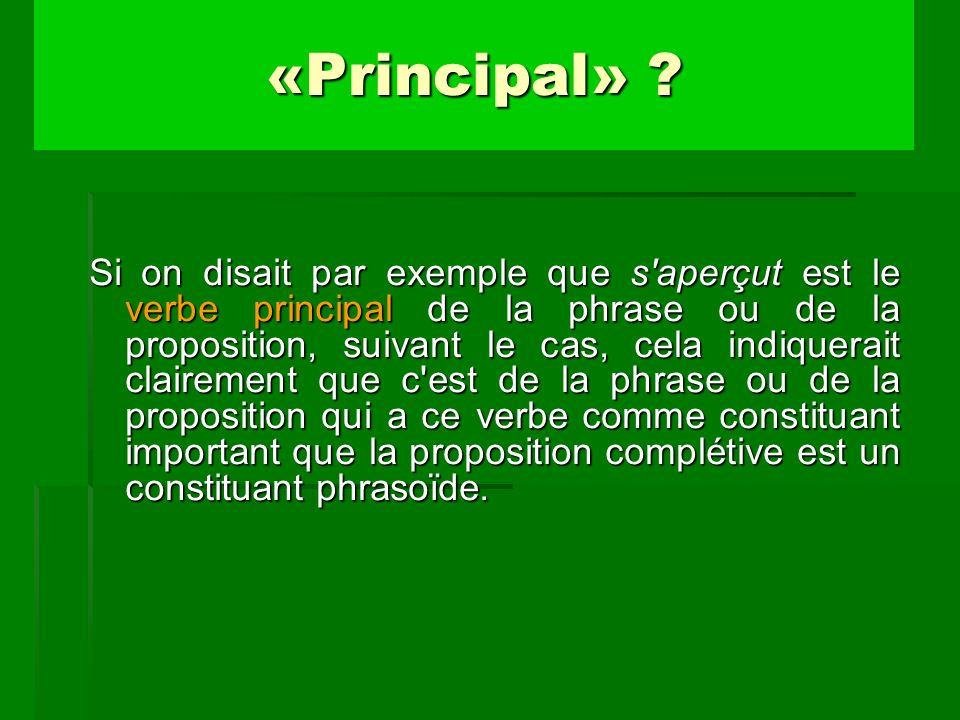 «Principal»