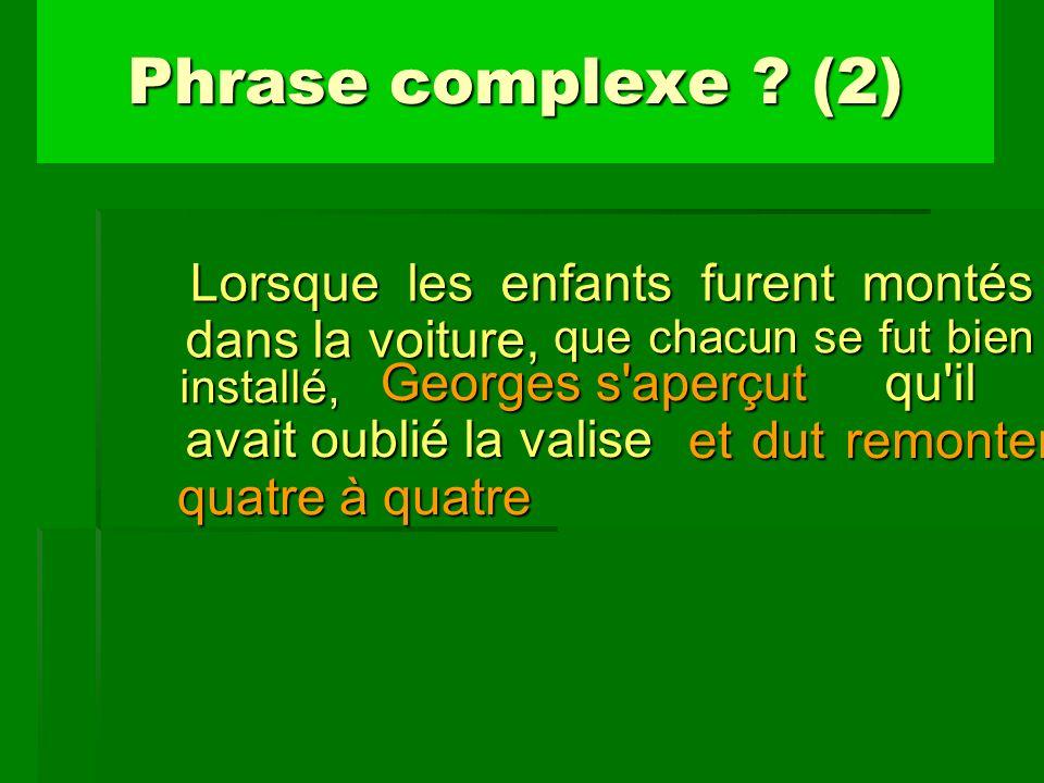 Phrase complexe (2) que chacun se fut bien installé,