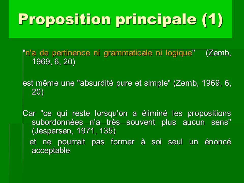 Proposition principale (1)
