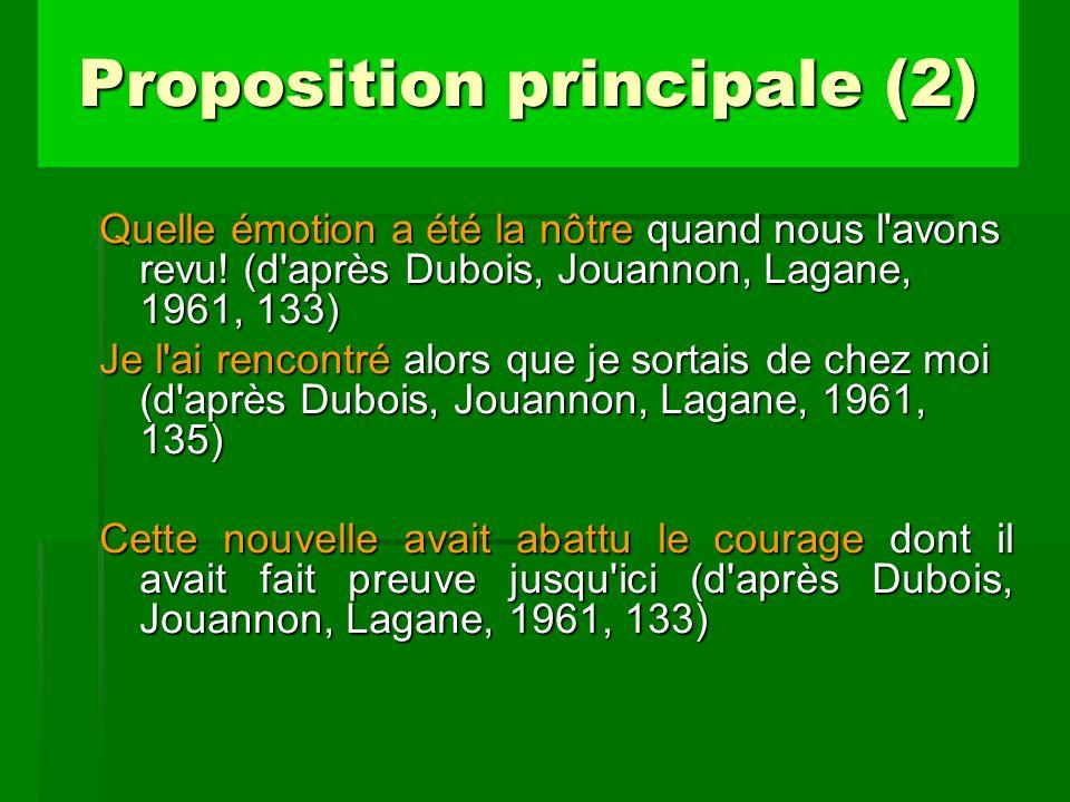 Proposition principale (2)