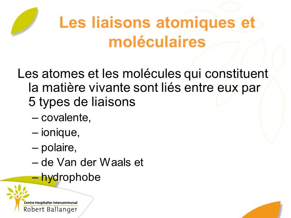 Les liaisons atomiques et moléculaires