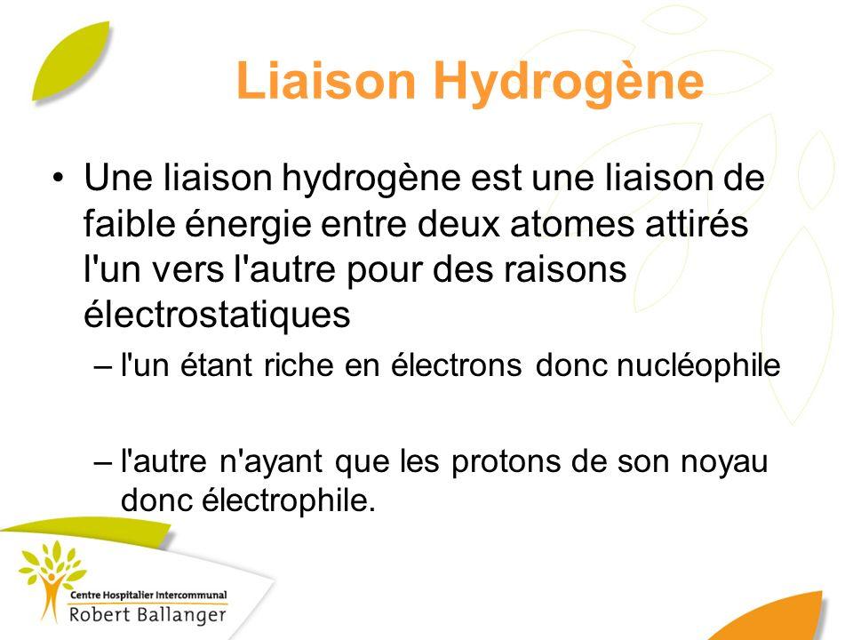 Liaison Hydrogène