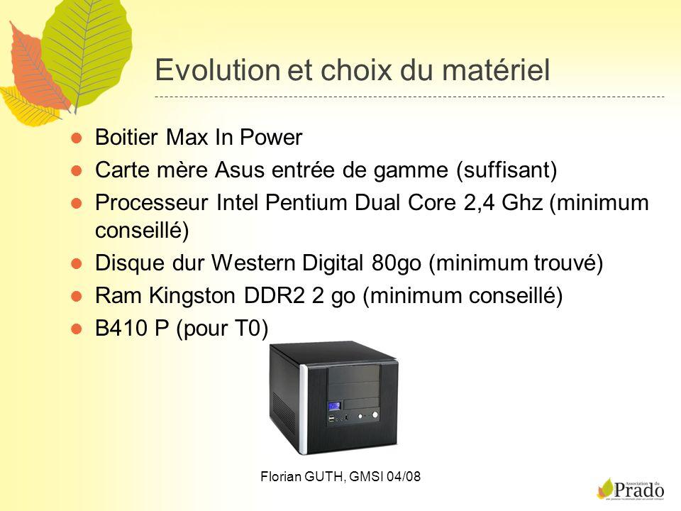 Evolution et choix du matériel