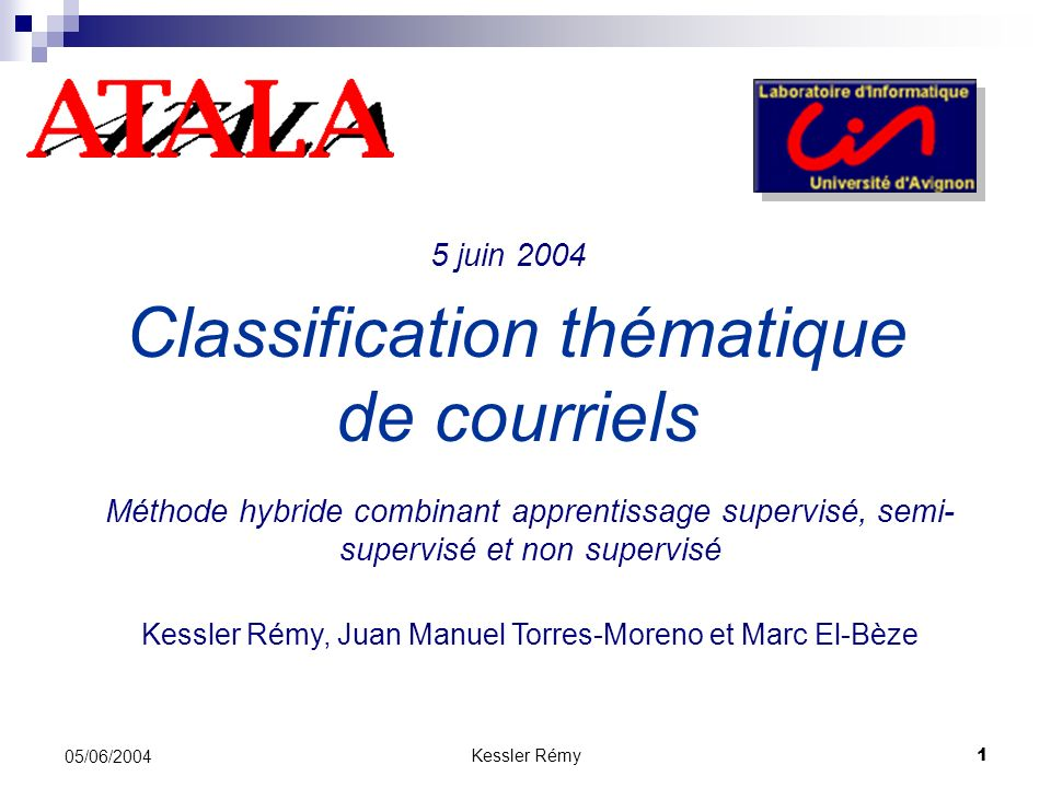 Classification thématique de courriels